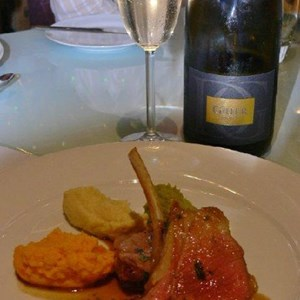 Domaine Grier Brut and Lamb