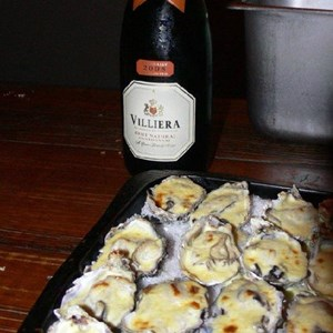 Brut Natural and oysters