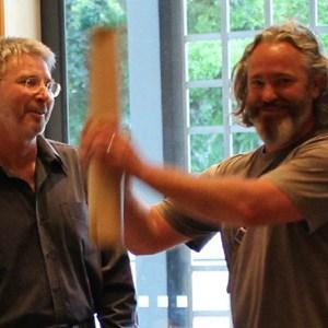 Philip van Zyl (Editor) & Adi Badenhorst batting