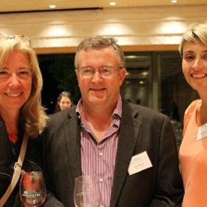 Ginny Povall (Botanica), Johan Malan & Debbie Thompson(Simonsig)