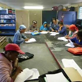 In the evenings, after the school children have gone home, there are classes being offered to illiterate adults learning to read and write, as well as to adults who wish to study for their matric exams.
