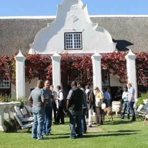 Meerlust Red Lunch - Manor House and guests