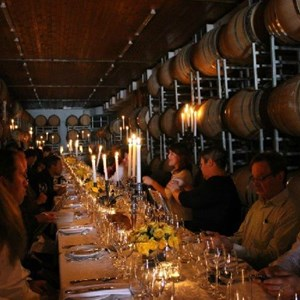 Meerlust Red Lunch - in the cellar