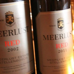 Meerlust Red Lunch - 2002 & 2011