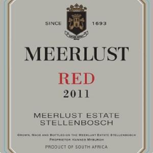 Meerlust Estate - Meerlust Red 2011 label