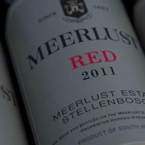 Meerlust Esate - styled shot of the Meerlust Red 2011