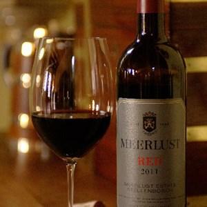Meerlust Esate - a glass of Meerlust Red