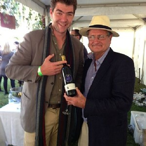 The Stables Wine festival. Roger and Matthew with a 1997 Villiera Cru Monro!
