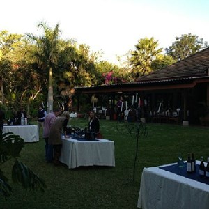 Amanzi Restaurant Harare setting up for tasting and Dinner