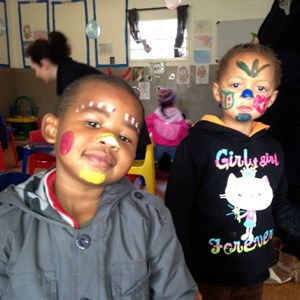 Mandela Day - showing off their painted faces