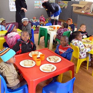 Mandela Day - enjoying lunch