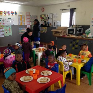 Mandela Day - Creche kids enjoying lunch