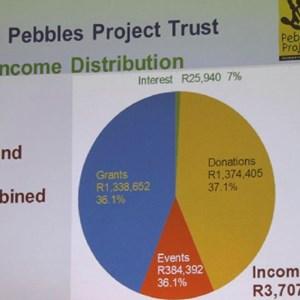 Pebbles AGM 2013 at Warwick - Income distribution