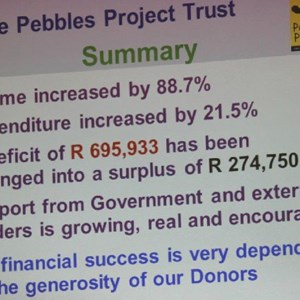 Pebbles AGM 2013 at Warwick - Finances Summary