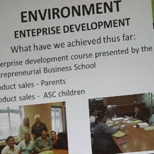 Pebbles AGM 2013 at Warwick - Enterprise development
