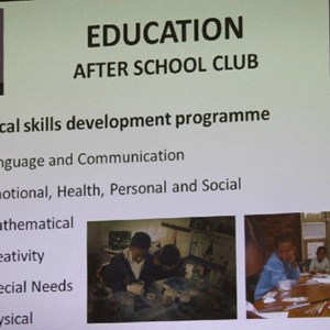 Pebbles AGM 2013 at Warwick - Education After School Club Critical Skills Development programme
