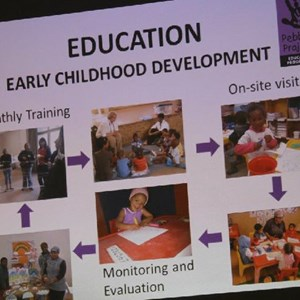 Pebbles AGM 2013 at Warwick - Early Childhood Development (ECD)