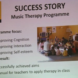 Pebbles AGM 2013 at Warwick - Success Story - Music Therapy program