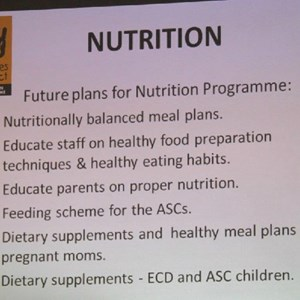 Pebbles AGM 2013 at Warwick - Nutritional plans
