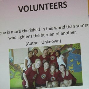 Pebbles AGM 2013 at Warwick - Volunteers