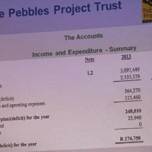 Pebbles AGM 2013 at Warwick - The Accounts
