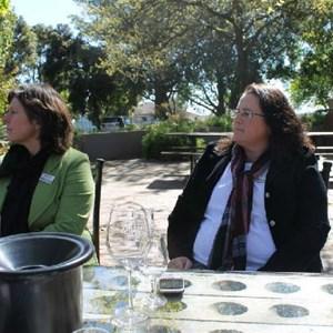 Villiera - wine.co.za visit Sept 2013 - Adele & Renee