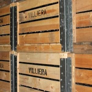 Villiera - wine.co.za visit Sept 2013 - pallets of wine