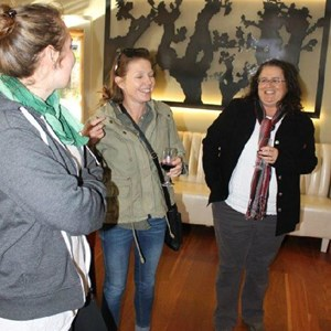 Villiera - wine.co.za visit Sept 2013 - Mart, Michelle & Renee