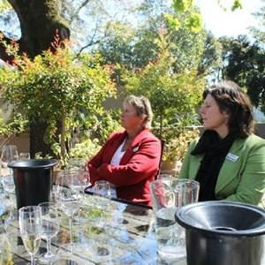 Villiera - wine.co.za visit Sept 2013 - Judy & Adele