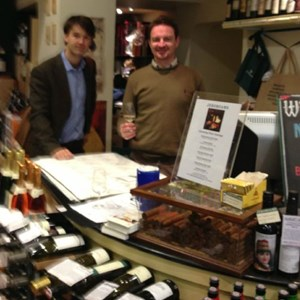 Tom of Crush Wines with Nick of Jeraboams Notting Hill