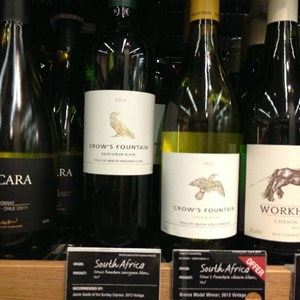 M&S Sept 2013 Villiera Crows Fountain Sauvignon and Chenin