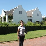 Conny Ganss visiting Meerlust with Judy Brower from wine.co.za