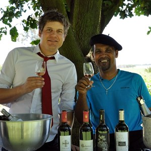 Domaine Grier stand with Paul and Ivan