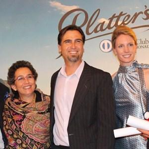 Platter 2015 launch - Hylton & Wendy Appelbaum, JP Rossouw, Carl vd Merwe & wife.jpg