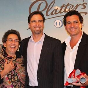 Platter 2015 launch - Wendy Appelbaum,  JP Rossouw, Carl vd Merwe (DeMorgenzon).jpg