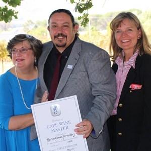 Cape Wine Master  2015 Graduation - Dr Winnie Bowman, Martin Gomez, Kristina Beuthner.jpg