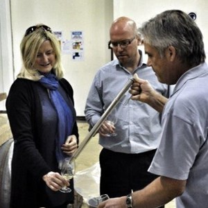 41. Jeff, Sue and dror tasting the proposed 2013 M&S barrel Fermented Chenin.jpg