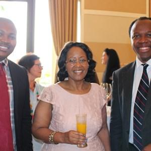 Reaching for Young Stars Sinethemba Sonjica, Dep Minister Tourism - Thokozile Xasa & Aubrey Ngcungama.JPG