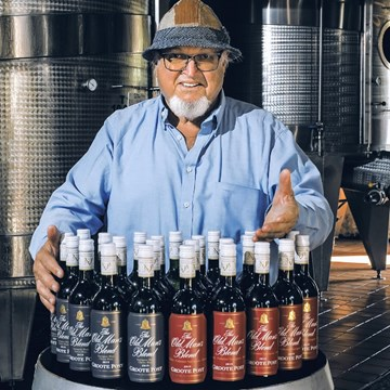 Join three generations of the Pentz family in celebrating your heritage on Father's Day - Enjoying Groote Post's The Old Man's Blend range of wines