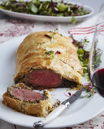 Cook up a storm this winter - Beef Wellington paired perfectly with Groote Post The Old Man's Blend Red