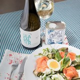 Enjoy Debbie Mclaughlin's Smoked Salmon Trout Salad With Groote Post's #Seasalter2021
