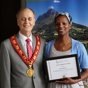 Cape Winelands Mayoral Tourism Awards - Zukiswas Matiwane (Spier).JPG