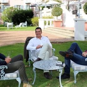 Miles Mossp, Carl vd Merwe & Adam Mason relaxing