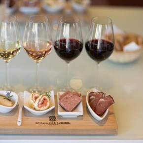 Domaine Grier and Amuse-bouche pairing in Villiera tasting room.jpg