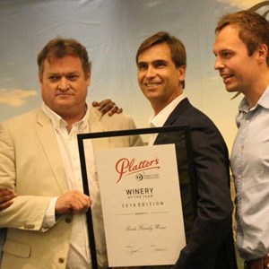 Mzo Mvemve, Bruwer Raats, JP, Gavin Bruwer - Winery of the Year - Raats Family Wines