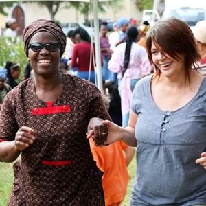 Staff Party Deborah and Marcia