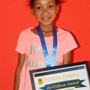 Pebbles Afterschool Club Prize Giving 2017 - Marcelene Spogter (Jo Clifton Award)