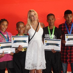 Pebbles Afterschool Club Prize Giving 2017 - Tanja and group