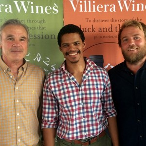 Winemakers Jeff Grier, Nathan Valentine and Xander Grier