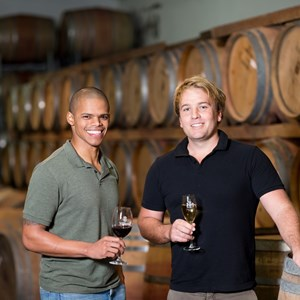 Villiera Winemakers Nathan Valentine and Xander Grier
